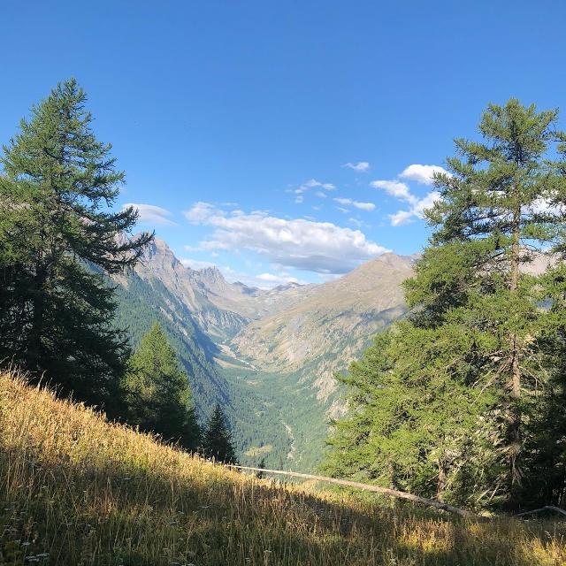 Vue de la vallée de la Clarée, Hautes-Alpes