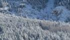 Vue de la montagne enneigée depuis le balcon de l'appartement à louer à Névache, Vallée de la Clarée, Hautes-Alpes